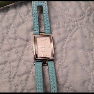 Turquoise Leather Banded Women's Watch